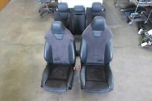 2010 2012 Audi S4 Front Rear Seat Set Leather Electric Sport Seat Opt Q4q Oem