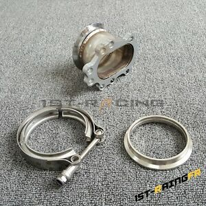 8 Bolt Garrett T25 T28 Gt25 Gt28 To 3 Inch V Band Downpipe Flange Clamp Adapter