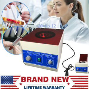 4000rpm Electric Centrifuge Machine Lab Medical Practice Speed Control 20ml X 12