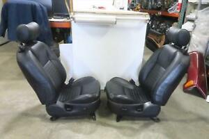 2002 Ford Thunderbird Front Seat Set Black Leather Oem