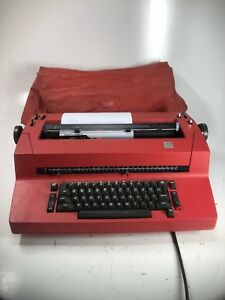 Ibm Selectric Ii 2 Correcting Typewriter Red Vintage Works Great With