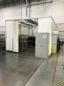 2 14 X 20 X 10 H Soft Wall Clean Room Frame Systems