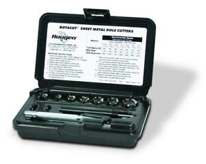 Hougen 11075 Rotacut Fractional Sheet Metal Hole Cutter Kit With Case
