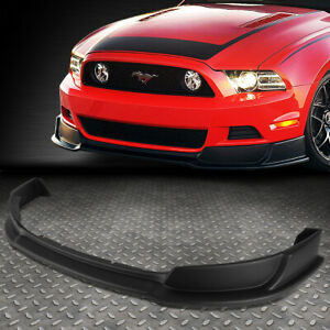 For 2013 2014 Ford Mustang Gt Style Abs Front Bumper Lip Lower Spoiler Body Kit