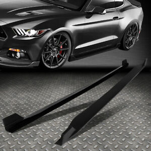 For 2015 2017 Ford Mustang Pair Side Skirts Under Board Extension Panel Body Kit