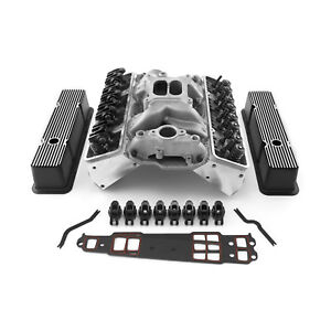 Chevy Sbc 350 Straight Cylinder Head Top End Engine Combo Kit Outlaw Series