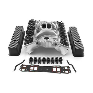 Chevy Sbc 350 Angle Cylinder Head Top End Engine Combo Kit Street Series
