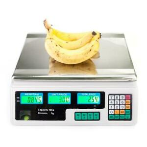 40kg 5g Digital Scale Computing Food Produce Electronic Counting Weight 88lb