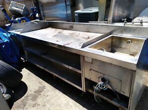 12 Stainless Work Table With Understorage 1 Regular And 1 Heated Soaker Sink