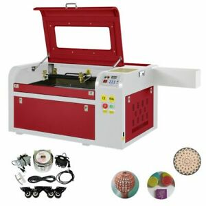 High Precise 60w Co2 Laser Engraving Cutting Machine Engraver Cutter Usb Port Us