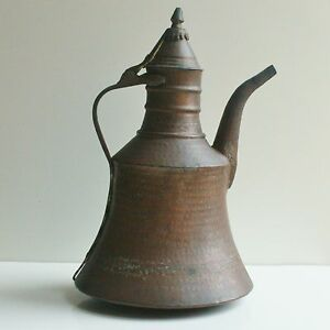 Huge 15 4 Large Antique Islamic Arabic Copper Kettle Pitcher Middle East