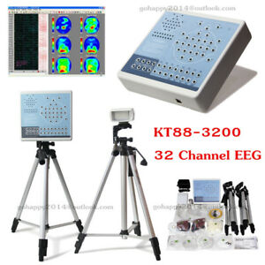 Video Digital 32 Channel Eeg Mapping Systems Machine software spo2 2 Tripods