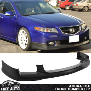 Fits 04 05 Acura Tsx Oe Style Front Bumper Lip Unpainted Pu