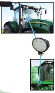 John Deere Tractor And Combine Led Cab Fender Floodlamp Light Re198623 Ah207788