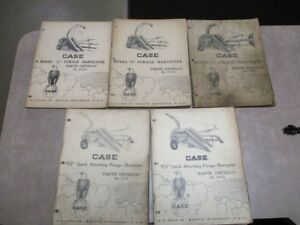 Set Of 5 Vintage Case C Forage Harvester C2 Quick Attaching Parts Catalogs