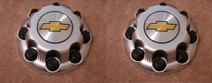 2 New Chevy Express Van 2500 3500 Painted Silver Center Hub Caps 9597163 8 Lugs