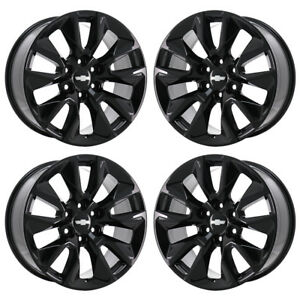 20 Chevrolet Silverado 1500 Truck Black Wheels Rims Factory Oem 96053 Exchange