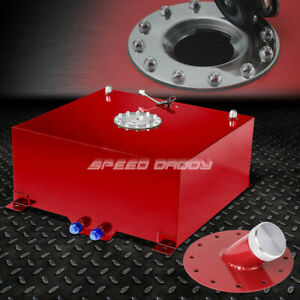 20 Gallon 76l Red Coated Aluminum Fuel Cell Tank level Sender 45 Fast Fill Neck