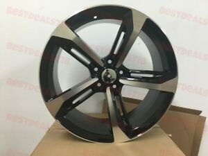 17 Rs Black Machine Face Rims Wheels Fits Vw Jetta Passat 17x7 5 35 Offset