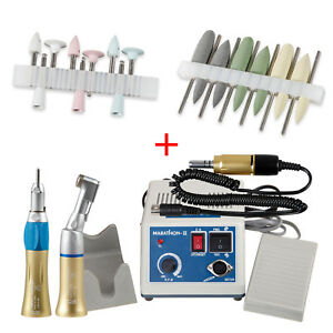 Dental Lab Micromotor electric Motor Gold Handpieces Polish Kits 2 4
