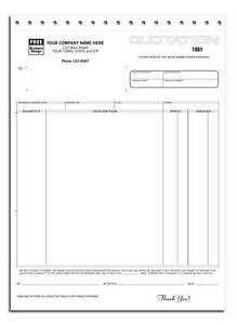 500 Quotation Forms 3 Part Carbonless 8 5 X 11 Nebs deluxe No 290