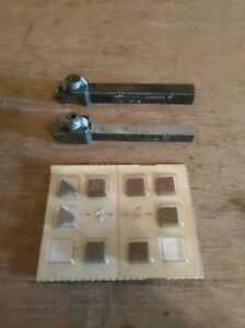 Valenite Vc2 Carbide Throwaway Insert Tooling With 3 8 Square Shank Bit Holders