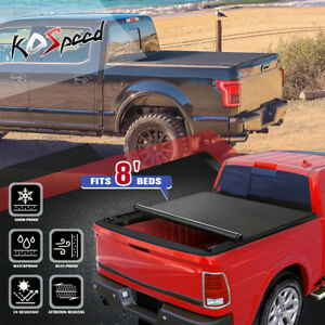 For 02 18 Dodge Ram 8ft Long Bed Fleetside Soft Roll Up Tonneau Cover Assembly