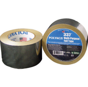 Polyken Aluminum Tape 3 In Width X 3 7 Mil Total Thickness Flame Retardant 337
