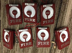 7 Used Gamewell M46 28 Fire Alarm Pull Stations