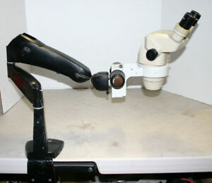 Olympus Sz 30 Stereozoom Microscope 9 40x On Articulating Boom Stand