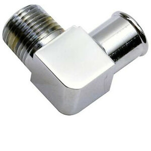 90 Degree Heater Water Pump Fitting Chrome Aluminum 5 8 Hose 1 2 Npt 4530 New A3