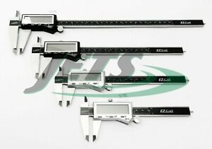 4pc Igaging Digital Caliper Set 4 6 8 12 Stainless Fractional 3 Way Ez Cal