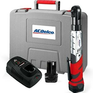 Acdelco Cordless 12v 3 8 Ratchet Wrench Tool Set With 2 Batteries And Charger
