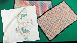 Lot Vintage Table Decoration Carpet Napkin Handiwork Needlecraft Tablecloth 87