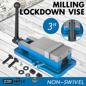 3 Non swivel Milling Lock Vise Bench Clamp Cnc 24kn 80mm Width Hardened Metal
