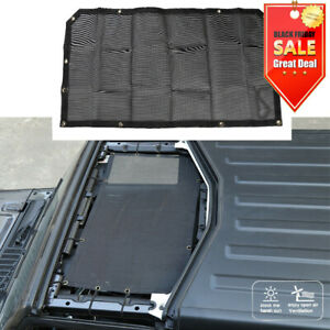 1pcs For Jeep Wrangler Jl 2018 Roof Mesh Sunshade Half Top Cover Uv Protection
