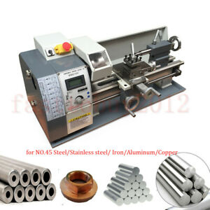 8 x16 Precision Mini Metal Steel Lathe Machine 220v 750w Variable Speed 3 Jaw