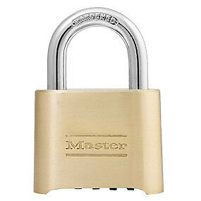Master Lock 175 2 Wide Resettable Combination Brass Padlock Pack Of 6