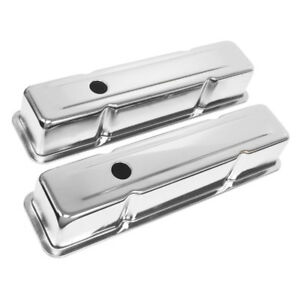 Chevy Small Block Valve Covers Tall Chrome Steel Baffled 283 305 327 350 400