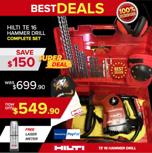 Hilti Te 16 c Hammer Drill Preowned Free Thermal Bottle Bits Fast Ship