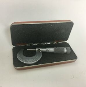 Vintage Brown Sharpe No 1 Machinist Micrometer With Case