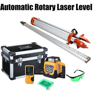 Auto Green Self leveling Horizontal Vertical Laser Level W Staff Tripod Case