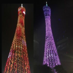Full Color Diy Led Light Cube Canton Tower Suite Wireless Remote Control Electro
