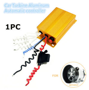 New Aluminum Electric Turbo Turbine Automatic Controller Yellow 35000 Rpm 12 15v