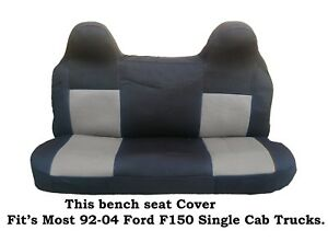Black gray Mesh Fabric Bench Seat Cover Fit s Ford F150 Truck s 92 04