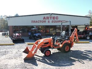 2013 Kubota Bx25 Tractor With Loader Backhoe 4wd Kubota Good Condition