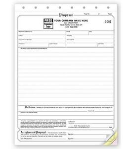 250 Business Proposal Acceptance Forms 3 Part Nebs Deluxe No 118