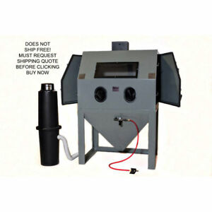 Cyclone A4800 Dual Double Door Abrasive Media Sand Blasting Cabinet