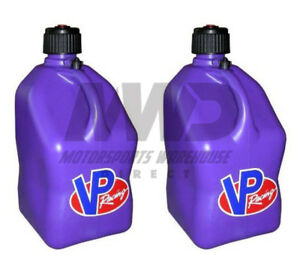 2 Pack Purple Vp 5 Gallon Square Racing Fuel Gas Can utility Water Jug jerry