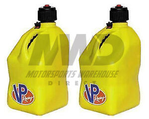 2 Pack Yellow Vp 5 Gallon Square Racing Fuel Gas Can utility Water Jug jerry